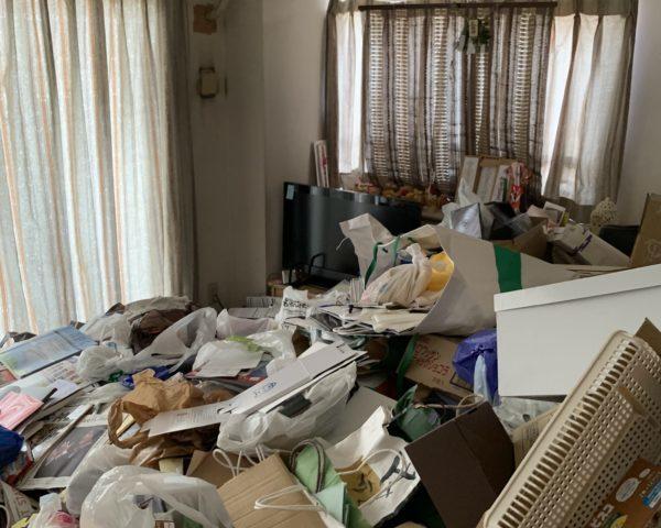 東京都目黒区にてゴミ屋敷の片付け